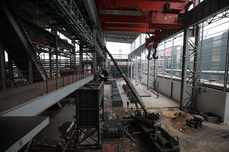 重点项目风采      2×100吨精品钢项目进入热试车前冲刺阶段